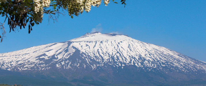 the volcano Etna landscape