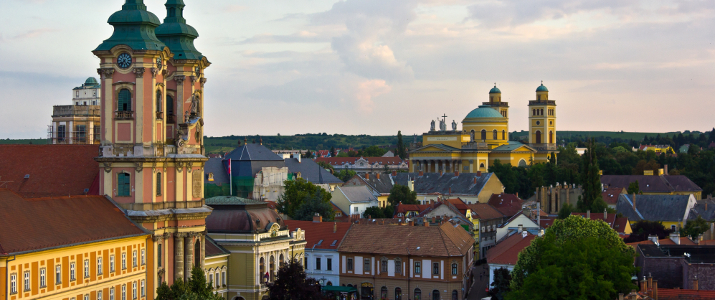 shutterstock_101837059 The medieval town of Eger taken from the ramparts of the Eger fort.